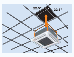 Cette Model Fits Into Standard Ceiling Tile