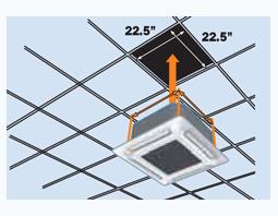 Compact Cassette Halcyon Single Room Mini Split Systems