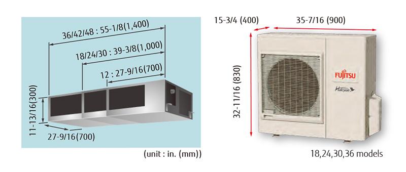 Medium Static Pressure Duct Halcyon Single Room Mini