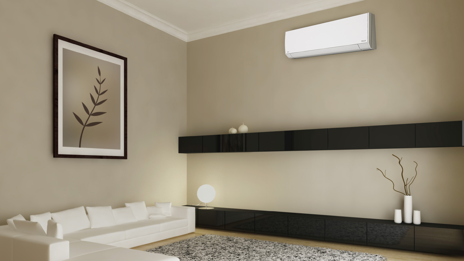 Halcyon single room mini split systems air conditioner for Split wall
